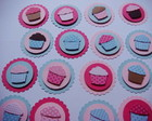 APLIQUES CUPCAKE-PINK,ROSA BB E AZUL BB