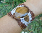 &#9830; 20% off &#9830; Bracelete Com Olho De Tigre