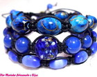 KIT PULSEIRAS SHAMBALA *AZUL ROYAL*