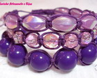 KIT PULSEIRAS SHAMBALA *LILS E ROXO*