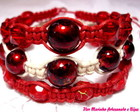 KIT PULSEIRAS SHAMBALA *VERMELHA*