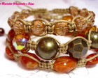 KIT PULSEIRAS SHAMBALA *CARAMELO*