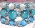 KIT PULSEIRAS SHAMBALA *AZUL*
