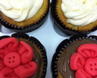 Kit 4 cupcakes Flores