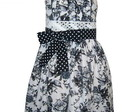 Vestido Preto e Branco Estampado - 03