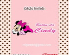 Rtulo Baton Minnie em Vinil adesivo