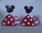Minnie porta bala lembrancinha com tag