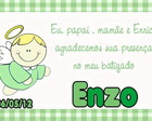 Tag Agradecimento &quot;batizado&quot;