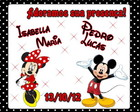 Tag Agradecimento &quot;mickey e minnie&quot;