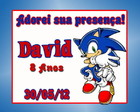 Tag Agradecimento &quot;Sonic&quot;