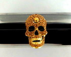 CLUTCH ACR�LICO - GOLDEN SKULL