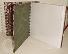 Caderno quadrado floral vinho