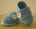 Mocassim Kau Azul bebe e branco