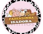 Adesivo Latinha Fazendinha Rosa