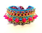 Friendship Bracelet Spike Pink