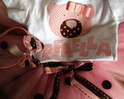 CONJUNTO URSINHA  ROSA E MARROM