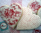 Cookies Heart Toile