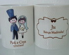 Caneca personalizada de casamento