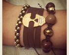 Trio Lux Skull - Brown & Gold