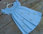 Vestido Casinha De Abelha Azul Xadrez
