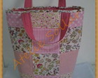 Sacola em patchwork para tric