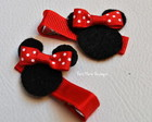 hair clips Minnie