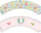 Wrapper para cupcake Jardim 1 (kit c/2)