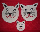 Kit porta panela gatinho com 3 pe�as