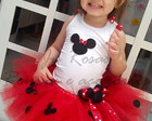 Conjunto tutu Minnie luxo