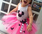Conjunto Luxo Minnie rosa
