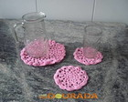 Conjunto Rosa de Toalha para bandeja