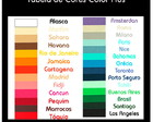 Tabela de Cores Color Plus