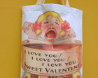 I Love You - Bolsa saco com forro