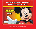 Adesivo do Mickey