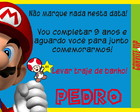 CONVITE INGRESSO MARIO BROS - (DIGITAL)