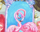 Pintura Pink Flamingos
