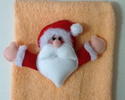 Toalhinha de Lavabo com Papai Noel