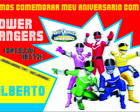 Convite POWER RANGERS pequeno