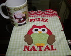 Caneca Natal + Saquinho Coruja Natal