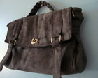 Bolsa Mini Alexa Suede Cinza