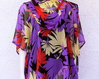 Bata Caftan Seda Tropical  Plus Size