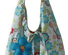 Bolsa sacola floral azul