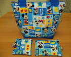 Bolsa Mickey + necessaire + porta moedas