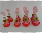 Porta Fotos Cup Cake Moranguinho