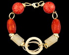 PULSEIRA CORAL COM CRISTAL RUTILADO