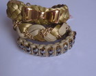 Kit pulseiras dourado/bege