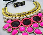 Maxi Colar Rosa Neon 1032