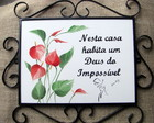 Placa Deus do Impossvel