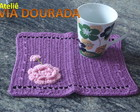 Mug Rug Lils com Flores Rosa