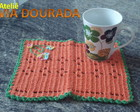 Mug Rug Laranja com verde